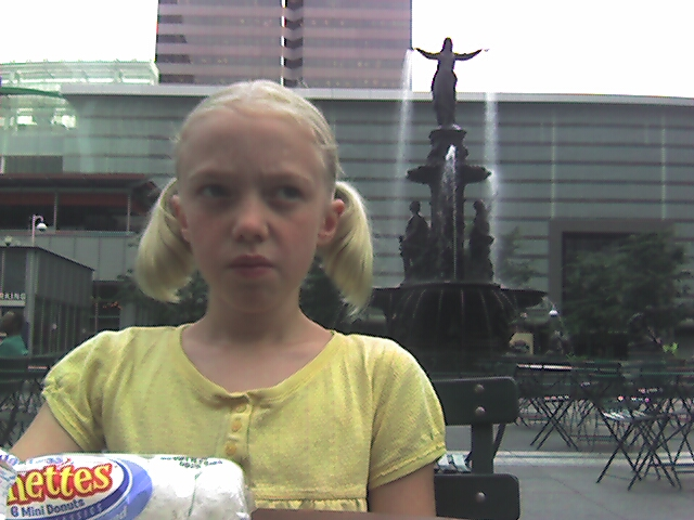 White Powdered Doughnuts on Fountain Square on Our Way to Docentitos
